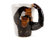 Monkey Handmade Coffee Mug 10cm x 8cm >>> Check out the image by visiting the link.