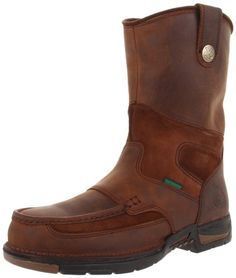 "Georgia Boot Men's Mud Dog 12"" Pull On Steel Toe Work Boot $107.00 ..."