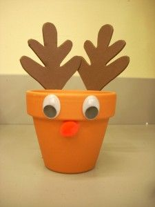 Reindeer food holder...I want to make this when I have kids!