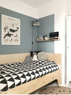 25 Cozy Bedroom Decor Ideas that Add Style & Flair to Your Home - The Trending House Romantic Bedroom Decor, Cozy Bedroom, Bedroom Wall, Kids Bedroom Boys, Boy Room, Cool Kids Rooms, Kids Bunk Beds, Bunk Bed Designs, Kids Room Design