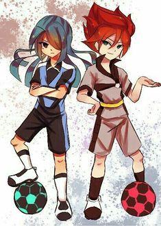 Kazemaru and hiroto evil Nathan Swift, Byron Love, Inazuma Eleven Go, Tokyo Ghoul, Anime Characters, Fan Art, Cartoon, Drawings, Aries