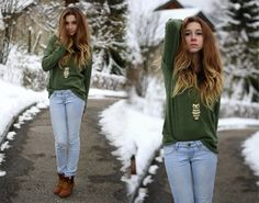 Sitting at my window and watching the snow fall.  (by Francesca S.) http://lookbook.nu/look/4337351-Sitting-at-my-window-and-watching-the-snow-fall