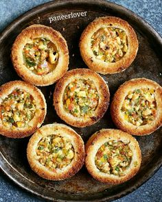 Cheese rings recipe with step by step photos. Learn how to make crispy baked cheese rings with spicy veg filling and paneer with this easy recipe. Veg Starter Recipes, Veg Recipes, Indian Food Recipes, Snack Recipes, Cooking Recipes, Recipies, Bread Recipes, Easy Recipes, Dishes Recipes