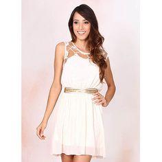 Vestido com Renda Feminino Facinelli - Branco