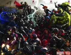 """Marvel's """"Avengers: Age of Ultron"""" concept art by Ryan Meinerding, Charlie Wen & Andy Park"""