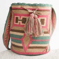Guajira Mochila Bag – WAYUU TRIBE | Handmade Bohemian Bags 118 Tapestry Bag, Tapestry Crochet, Mochila Crochet, Gypsy Bag, Colorful Quilts, Vintage Bags, Love Crochet, Crochet Fashion, Bead Art
