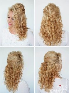 30 Curly Hairstyles in 30 Days – Day 6 – Hair Romance A quick half-up twist in curly hair. If you want to see more curly hair tutorials, check out Hair Romance's 30 Days of Curly Hairstyles ebook at www. Curly Hair Tips, Short Curly Hair, Wavy Hair, Frizzy Hair, Hair Romance Curly, Kinky Hair, Curly Girl, Half Up Curly Hair, Curly Bob