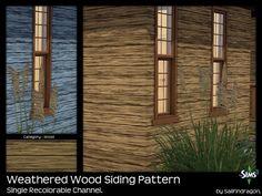 Weathered Wood Siding Pattern - Sims 3 Patterns - Dragon Black Sims