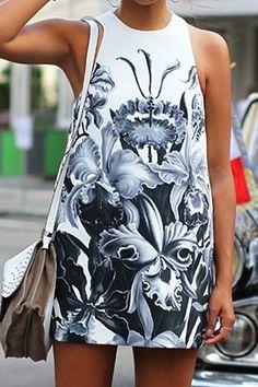 unique floral print dress