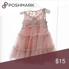 NWT children's beautiful dress I found another dress like the four that already sold on here recently and this one is in the muted pink/rose color as deplored in the picture .  So beautiful with layers of tulle, sleeveless.  Size 6/7  the dress can be worn dressy perfect for weddings, birthday parties or shopping with Mom with a pair of sandals 💕 Dresses Casual