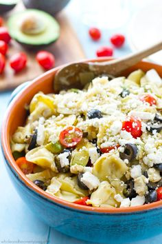 Mediterranean Tortellini Pasta Salad and The Best Cookout Recipes to Enjoy this Summer- Loaded with fresh Mediterranean flavors, this Mediterranean Tortellini Pasta Salad makes a great vegetarian cookout side dish!