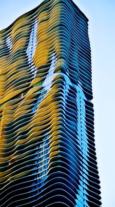 Aqua Building - Chicago, Illinois. First sky scraper designed by a female in Chicago.