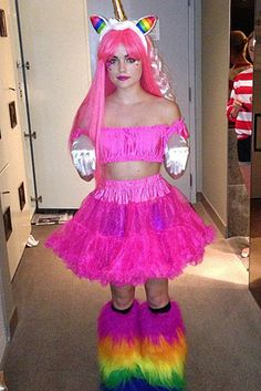 Lucy Hale The actress transitioned from Pretty Little Liars to My Little Pony for Halloween. Costume Halloween, Best Celebrity Halloween Costumes, Unicorn Halloween, Fete Halloween, Unicorn Costume, Halloween Ideas, Halloween Decorations, Halloween 2014, Doll Costume