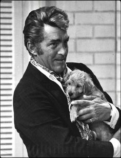 Dean Martin & his dog!......Uploaded By www.1stand2ndtimearound.etsy.com