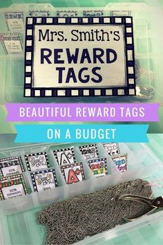 Beautiful Brag Tags on a Budget! Great blog post on classroom reward tags (and a free back to school printable). I LOVE these for positive classroom management!
