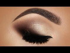 Smokey eyes Natural Love Too Faced Palette & Lip Strobe Huda Beauty   Melissa Samways - YouTube