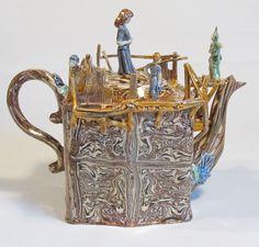 Richard Stratton, Which Way do I go Teapot, 2013 Ceramic Teapots, Tea Art, Tea Ceremony, Household Items, Tea Time, Tea Cups, Display, Ceramics, Fantasy