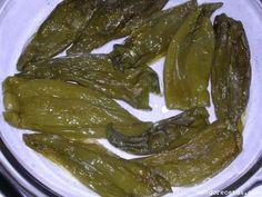 Receta de pimientos verdes italianos asados (microondas)