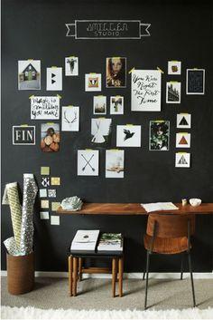 decoração quadro negro dicas imagens fotos interiores 2 Solte a Imaginação: Decoração com Quadro Negro   Parte 1