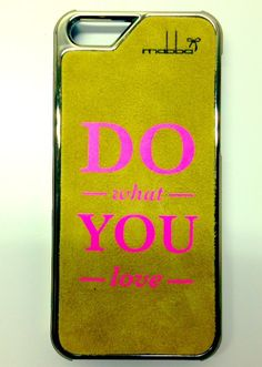 """DO what YOU love"" Smartphone case - iPhone 5/5S Case handmade from genuine leather!  Handgemacht aus echtem Leder für iPhone 5/5S & iPhone 4/4S <3"