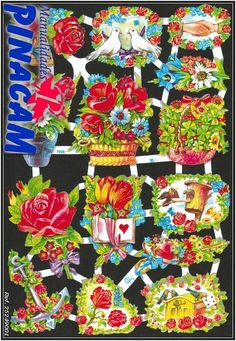 Lámina de cromo alemán troquelado  disponible en www.manualidadespinacam.com manualidades #pinacam #cromos