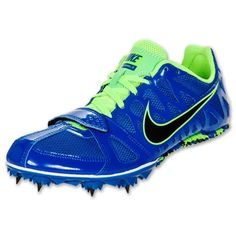 Mens Nike Zoom Rival 6 Sprinters Running Track Spikes Size 10.5 Blue/Green #Nike #SprintersTrackRunningSpikes