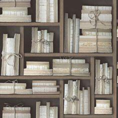 Galerie Memories 2 G56153 Black Beige Old Books Bound Book Case Effect Wallpaper in Home, Furniture & DIY, DIY Materials, Wallpaper & Accessories | eBay