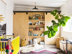 Before and After: A Bright, Eclectic San Diego Nursery: Three creative friends collaborate to create a nontraditional, modern nursery. via @mydomaine