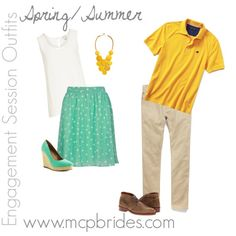 Spring/Summer Engagement Session Outfit Ideas Yellow and Mint mcpbrides.com Elizabethtown, KY