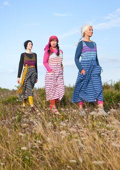 Striped eco-cotton dress – – GUDRUN SJÖDÉN