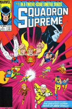 SQUADRON SUPREME #1 MARVEL COMIC BOOK POSTER BOB HALL HYPERION POWER PRINCESS SS