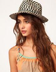 River Island Zig Zag Trilby Hat