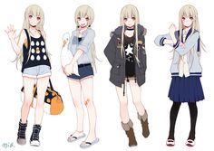 anime girl clothes - Pesquisa Google