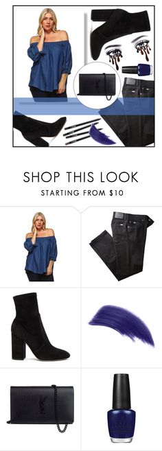 """""""Plussizeforless"""" by plussizeforless ❤ liked on Polyvore featuring BRAX, Valentino, Ellis Faas, Yves Saint Laurent and OPI"""