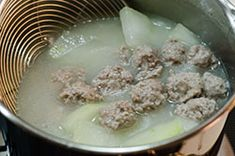 Winter Melon Soup with Meatball (冬瓜丸子汤) Learn To Cook, Food To Make, Winter Melon Tea, Herbal Chicken Soup, Gourd Vegetable, Chinese Soup Recipes, Melon Recipes, Tofu Soup, Pork Broth