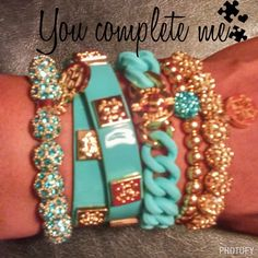 Rustic cuff - turquoise