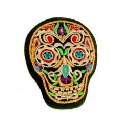 Day Of The Dead Sugar Skull Embroidered Handheld Mirror - Black - Dia De Los Muertos - 3.25 x 4 Inches by Sunshine Joy, http://www.amazon.com/dp/B00CMSP9NG/ref=cm_sw_r_pi_dp_BUCqsb034P0S2