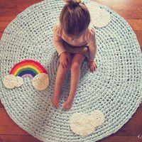 Rainbow nursery rug.