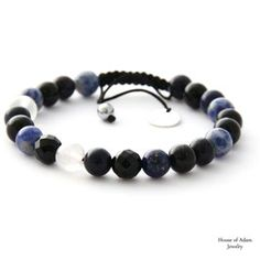 `Cannes´ our new #mensbracelet. MAde of natural stones and our new House of Adam Sterlingsilver logotag.