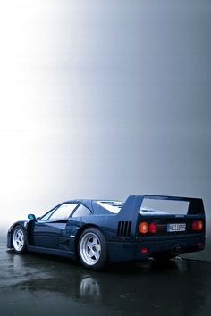 Ferrari F40. in navy blue. Gotta be extremely rare, most F40's are red, naturally.