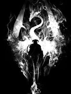 Black and White Skyrim by HutsonHaven on Etsy Source by PandaPawEtsy The Elder Scrolls, Elder Scrolls Games, Elder Scrolls V Skyrim, Oblivion, Juegos Offline, Video X, Art Anime, Fan Art, Video Game Art