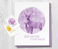 Deer Christmas Wish Printable Free Gift Tags by TinyBirdsMM