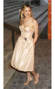 Sarah Jessica Parker at the CFDA Fashion Awards 2003 in Oscar de la Renta