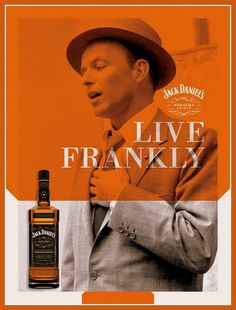 Frank Sinatra Jack Daniels Old Ad Print by BloominLuvly on Etsy