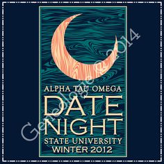 Geneologie | Greek Tee Shirts | Greek Tanks | Custom Apparel Design | Custom Greek Apparel | Sorority Tee Shirts | Sorority Tanks | Sorority Shirt Designs  | Sorority Shirt Ideas | Greek Life | Hand Drawn | Sorority | Sisterhood | Crescent Moon | Date Night | Date Function | Social | Alpha Tau Omega | ATO