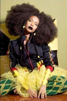 Erykah Badu has amazing style