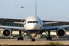 @British_Airways Boeing 777-200ER G-YMMS stares me down at Bangalore airport
