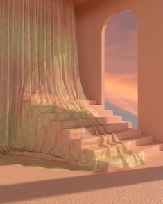 From abstract spots to this surreal -soothing 'n' serene virtual design. A dreamy collaboration between textile artist and… Aesthetic Photo, Pink Aesthetic, Aesthetic Pictures, Photo Wall Collage, 3d Artist, My New Room, Aesthetic Wallpapers, Beautiful Places, Interior Design