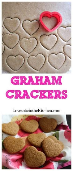 Homemade Graham Crackers-These are SO good! The perfect healthier snack. Made w/ no eggs and with whole grain!