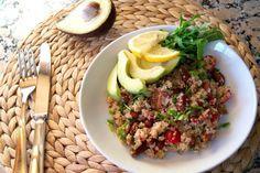 Petiscana: Salada de quinoa com feijão vermelho [Quinoa salad with kidney beans]